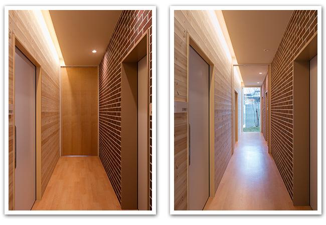 内視鏡室の廊下
